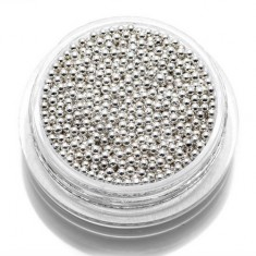 TNL, Бульонки металлические 1,2 мм (серебро) TNL Professional