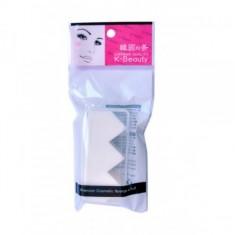 спонж косметический в кейсе 3 сегмента k-beauty premium cosmetic sponge & puff
