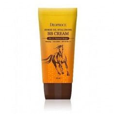 крем бб с гиалуроновой кислотой и лошадиным жиром deoproce horse oil hyalurone bb cream spf50+ pa+++