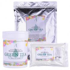 маска альгинатная с экстрактом зеленого чая успокаивающая anskin green tea modeling mask