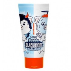 маска кислородная для очищения пор elizavecca hell-pore bubble blackboom pore pack