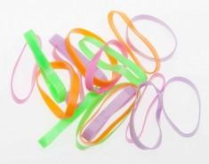 DEWAL BEAUTY Резинки для волос midi силикон, цветные 25 шт