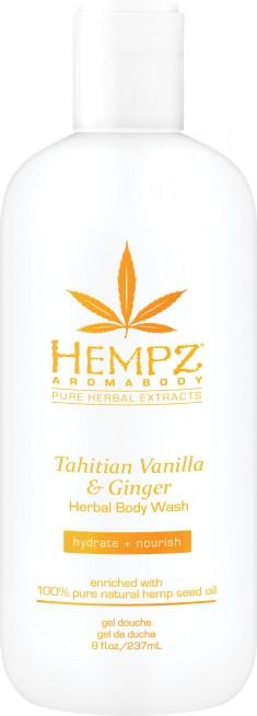 HEMPZ Гель для душа, имбирь и ваниль таити / Tahitian Vanilla & Ginger Herbal Body Wash 237 мл