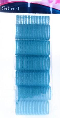 SIBEL Бигуди-липучки голубые 28 мм 12 шт/уп