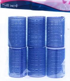 SIBEL Бигуди-липучки синие 40 мм 6 шт/уп
