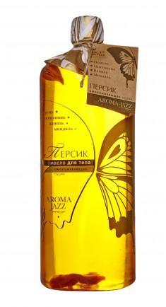 AROMA JAZZ Масло массажное жидкое для тела Персик 1000 мл