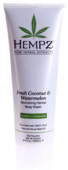 HEMPZ Гель для душа, кокос и арбуз / Fresh Coconut & Watermelon Herbal Body Wash 250 мл