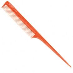 DEWAL BEAUTY Расческа с пластиковым хвостиком, оранжевая 20,5 см
