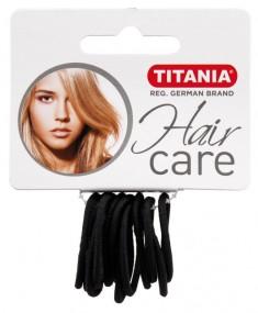 TITANIA Резинки для волос, черные 3 см 12 шт/уп 7800