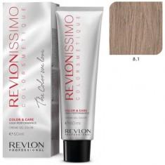 REVLON PROFESSIONAL 8.1 краска для волос, светлый блондин пепельный / RP REVLONISSIMO COLORSMETIQUE 60 мл