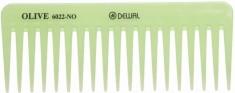 DEWAL PROFESSIONAL Гребень Olive моделирующий, редкозубый (зеленый) 15,5 см
