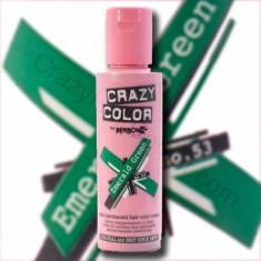 CRAZY COLOR Краска для волос, изумрудно-зеленый / Crazy Color Emerald Green 100 мл