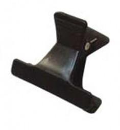 SIBEL Зажим пластиковый узкий, черный 12 шт/уп