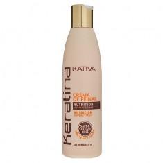 Kativa Keratina укрепляющий крем для укладки с кератином для всех типов волос 250мл