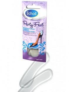 Scholl Пати Фит Невидимые гелевые подушечки для задников обуви многоразовые 1 пара