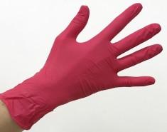 SAFE & CARE Перчатки нитриловые, красные, размер S / Safe & Care 100 шт ЧИСТОВЬЕ