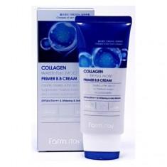 вв-крем с коллагеном увлажняющий farmstay collagen water full moist premium bb cream spf50 pa+++