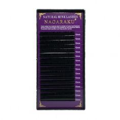 NAGARAKU, Ресницы на ленте Natural Mink, 10/0,07 мм, C-изгиб