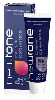 ESTEL HAUTE COUTURE 10/6 маска тонирующая для волос, светлый блондин фиолетовый / NEWTONE 60 мл
