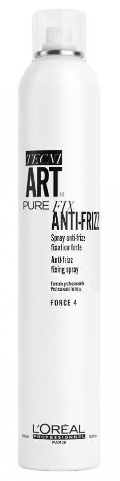L'OREAL PROFESSIONNEL Спрей сильной фиксации с защитой от влаги Анти-Фризз Пюр 4 (без запаха) / TECNI.ART 400 мл LOREAL PROFESSIONNEL