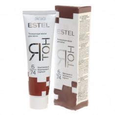 Estel ятон тонирующая маска для волос тон 6/74 каштановый 60мл