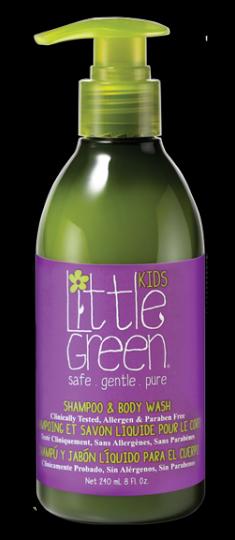 LITTLE GREEN Шампунь и гель для тела, без слез / KIDS 240 мл