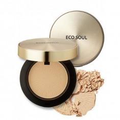 пудра компактная золотая the saem eco soul luxury gold pact