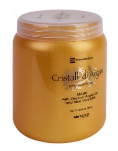 BRELIL PROFESSIONAL Маска для глубокого восстановления, шелковистости и блеска волос Кристаллы Аргании / Biotraitement Cristalli di argan 1000 мл