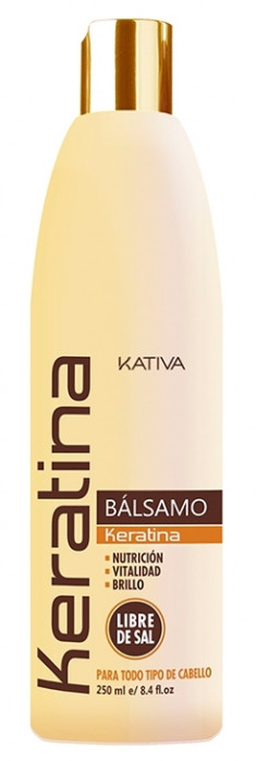 KATIVA Бальзам-кондиционер укрепляющий с кератином для всех типов волос / KERATINA 250 мл