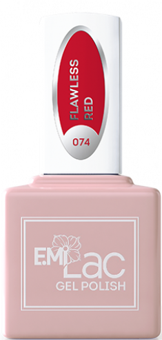 E.MI 074 DV гель-лак для ногтей, Безупречный красный / E.MiLac Dolce Vita 9 мл