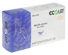 ECOLAT Перчатки нитриловые, фиолетовые, размер S / 4U EcoLat 100 шт