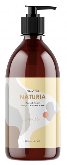 EVAS Гель для душа Ваниль / NATURIA Creamy Milk Body Wash - So vanilla 750 мл