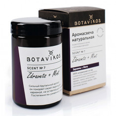 Botavikos, Аромасвеча «Здравец-мята», 90 г