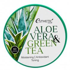 ESTHETIC HOUSE Патчи гидрогелевые с экстрактом алоэ вера и зеленого чая / ALOE VERA & GREEN TEA HYDROGEL EYE PATCH 60 шт