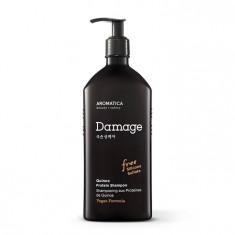 бессульфатный протеиновый шампунь с киноа для поврежденных волос aromatica quinoa protein shampoo