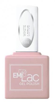 E.MI 001 гель-лак для ногтей, Белый лотос / E.MiLac 6 мл