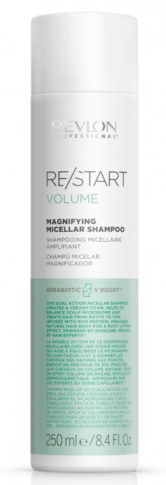 REVLON PROFESSIONAL Шампунь мицеллярный для тонких волос / RESTART VOLUME MAGNIFYING MICELLAR SHAMPOO 250 мл