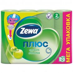 Zewa Бумага туалетная Плюс двухслойная с ароматом яблока 12шт