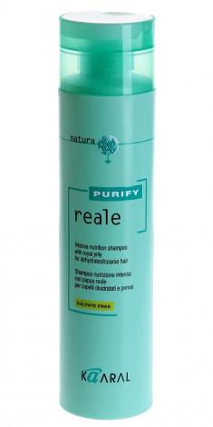 Kaaral Purify Reale Восстанавливающий шампунь для поврежденных волос 300 мл