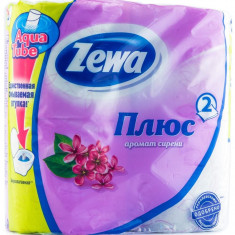 Zewa Бумага туалетная Плюс двухслойная с ароматом сирени 4шт