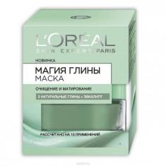 Loreal Маска для лица Магия глины Очищение и матирование 3 натуральная глины+эвкалипт 50 мл Loreal Paris