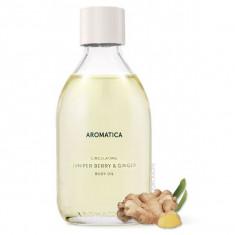масло для тела с можжевельником и имбирем aromatica circulating body oil juniper berry&ginger