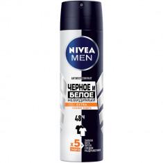 Nivea дезодорант спрей для мужчин Черное и белое Невидимый Extra 150мл