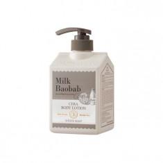 лосьон с керамидами для тела, с ароматом белого мыла milkbaobab cera body lotion white soap