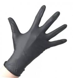 SAFE & CARE Перчатки нитриловые черные медицинские S Safe & Care 100 шт