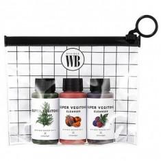 набор мини детокс-гелей wonder bath super vegitoks cleanser miniature kit