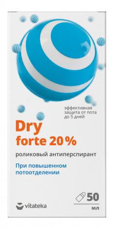 Витатека Драй форте ролик от обильного потоотделения 20% 50мл Vitateka