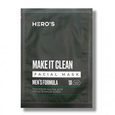 HERO'S, Маска для проблемной кожи Men's Formula, 20 г