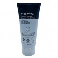 маска для лица с древесным углем dr.cellio  charcoal derma pore clear solution peel off pack