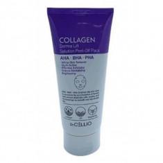 маска для лица с коллагеном dr.cellio  collagen derma lift solution peel off pack